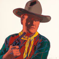 Post-War & Contemporary:Pop, Andy Warhol (American, 1928-1987). John Wayne (from Cowboys andIndians), 1986. Unique screenprint on Lenox Museum Board...