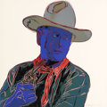 Post-War & Contemporary:Contemporary, Andy Warhol (American, 1928-1987). John Wayne (from Cowboys andIndians), 1986. Unique screenprint on Lenox Museum Board...