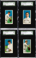 Baseball Cards:Lots, 1909-11 T206 Sweet Caporal/Sovereign Hal Chase SGC Graded Quartet(4 Different). ...