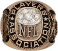 Football Collectibles:Others, 1970's NFL Players Association Ring....