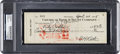 Baseball Collectibles:Others, 1935 Babe Ruth Signed Check from Final Weeks of Career, PSA/DNA Authentic. ...