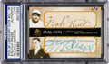 "Baseball Cards:Singles (1970-Now), One-of-One 2005 SP Legendary Cuts ""Dual Cuts"" Babe Ruth/HarryFrazee Signed Insert Card PSA/DNA Authentic. ..."