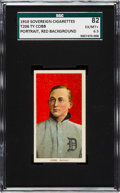 Baseball Cards:Singles (Pre-1930), 1909-11 T206 Sovereign 350 Ty Cobb, Red Portrait SGC 82 EX/NM+ 6.5- Highest Confirmed Example! ...