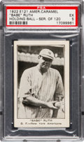 "Baseball Cards:Singles (Pre-1930), 1922 E121 American Caramel Series of 120 ""Babe"" Ruth, Holding BallPSA EX 5 - Pop Two, One Higher. ..."