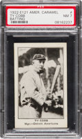 Baseball Cards:Singles (Pre-1930), 1922 E121 American Caramel Series of 120 Ty Cobb, Batting PSA NM 7- Pop One, One Higher. ...
