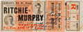 """Boxing Collectibles:Memorabilia, 1914 Willie Ritchie vs. """"Harlem"""" Tommy Murphy Full Ticket Signed by Ritchie...."""