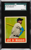 Baseball Cards:Singles (1940-1949), 1948 Leaf Joe DiMaggio #1 SGC 60 EX 5....