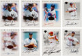 Baseball Cards:Lots, 1996 Leaf Signatures Regular Series & Extended Series Autograph Collection (18). ...