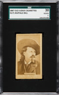 Non-Sport Cards:Singles (Pre-1950), 1887 N171 Old Judge Buffalo Bill Cody SGC 30 Good 2 - Only TwoGraded Examples. ...