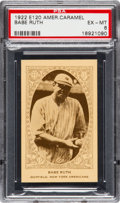 Baseball Cards:Singles (Pre-1930), 1922 E120 American Caramel Babe Ruth PSA EX-MT 6 - Pop One, OneHigher. ...