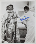 "Autographs:Celebrities, Wally Schirra Signed Mercury-Atlas 8 (Sigma 7) ""Suiting Up""Photo. ..."