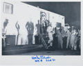 Autographs:Celebrities, Wally Schirra Signed Mercury-Atlas 8 (Sigma 7) Launch DaySpacesuit Photo. ...