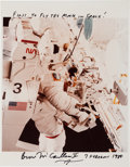 Autographs:Celebrities, Bruce McCandless Signed STS-41-B EVA Color Photo....