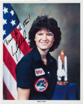 Autographs:Celebrities, Sally Ride Signed Color Photo. ...