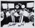 Autographs:Celebrities, Space Shuttle Columbia (STS-5) Mission Control Photo Signed by Kraft and Griffin. ...
