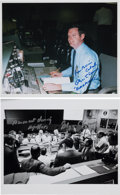 Autographs:Celebrities, NASA Flight Director Glynn Lunney Signed Photos (Two). ... (Total: 2 Items)