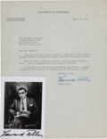 Autographs:Inventors, Edward Teller Typed Letter Signed and Signed Photo. ...