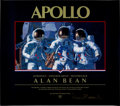 "Autographs:Celebrities, Alan Bean Signed ""Fantasy"" Color Poster for His Apollo Book...."