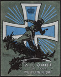 "Movie Posters:Academy Award Winners, All Quiet on the Western Front (Universal, 1930). British Program(20 Pages, 9"" X 11.5""). Academy Award Winners.. ..."