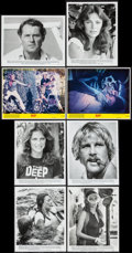 "Movie Posters:Adventure, The Deep (Columbia, 1977). Presskit with Photos (9"" X 12""), MiniLobby Cards (2) (8"" X 10""), Pressbook (16 Pages, 10"" X 19"")...(Total: 5 Items)"