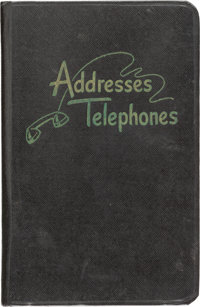 John F. Kennedy: His Personal Early 1950s Phone Directory from his Days as a U.S. Congressman