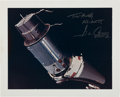 "Explorers:Space Exploration, Gene Cernan Signed Large Gemini 9A ""Angry Alligator"" Color PhotoOriginally from His Personal Collection, with COA. ..."