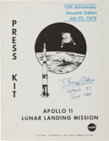 Autographs:Celebrities, Apollo 11 Tenth Anniversary NASA Press Kit Signed by Buzz Aldrin, with COA....
