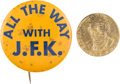Political:Pinback Buttons (1896-present), John F. Kennedy: Two Unlisted Badges.... (Total: 2 Items)