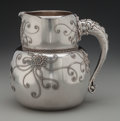 Silver & Vertu:Hollowware, A Whiting Aesthetic Movement Silver Pitcher with Applied Design, New York, New York, circa 1880. Marks: (lion-shield-W), S...