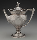 Silver Holloware, American:Coffee Pots, A Gorham Medallion Pattern Coin Silver Coffee Pot,Providence, Rhode Island, circa 1865-1870. Marks: (lion-ancho...