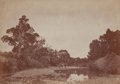 Photographs, William Henry Jackson (American, 1843-1942). Ford of the the La Bonta. Albumen. 5-1/4 x 7-1/2 inches (13.3 x 19.1 cm). T...