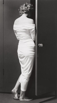 Philippe Halsman (American, 1906-1979) Marilyn Monroe entering the closet, 1952 Gelatin silver, 1981