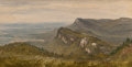 Fine Art - Painting, American:Antique  (Pre 1900), Sanford Robinson Gifford (American, 1823-1880). The Trapps,Shawangunk Mountains, 1850. Oil on paper laid on canvas. 7-1...