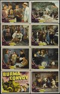 "Movie Posters:War, Burma Convoy (Universal, 1941). Lobby Card Set of 8 (11"" X 14"").Mystery. Directed by Noel Smith. Starring Charles Bickford,...(Total: 8 Items)"