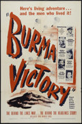 "Movie Posters:Documentary, Burma Victory (Warner Brothers, 1945). One Sheet (27"" X 41""). Documentary. Produced by the British Army Film Unit. Keywords:..."