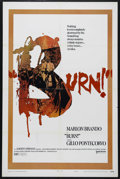 "Movie Posters:Drama, Burn! (United Artists, 1970). One Sheet (27"" X 41""). Political Drama. Directed by Gillo Pontecorvo. Starring Marlon Brando, ..."