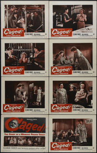 "Caged (Warner Brothers, 1950). Lobby Card Set of 8 (11"" X 14""). Crime. Directed by John Cromwell. Starring Ele..."