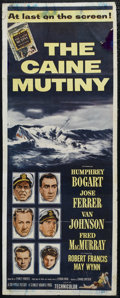 "Movie Posters:War, The Caine Mutiny (Columbia, 1954). Insert (14"" X 36""). War. Directed by Edward Dmytryk. Starring Humphrey Bogart, José Ferre..."