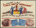 "Movie Posters:Musical, Call Me Madam (20th Century Fox, 1953). Title Card and Lobby Cards (2) (11"" X 14""). Musical. Directed by Walter Lang. Starri... (Total: 3 Items)"