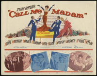 "Call Me Madam (20th Century Fox, 1953). Title Card and Lobby Cards (2) (11"" X 14""). Musical. Directed by Walte..."