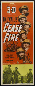 "Movie Posters:War, Cease Fire! (Paramount, 1953). Insert (14"" X 36""). War Documentary. Directed by Owen Crump. Keywords: interview, negotiation..."