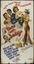 "Movie Posters:Comedy, A Date with Judy (MGM, 1948). Three Sheet (41"" X 81""). MusicalComedy. Directed by Richard Thorpe. Starring Wallace Beery, J..."