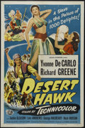 "Movie Posters:Adventure, The Desert Hawk (Universal International, 1950). One Sheet (27"" X41""). Adventure. Directed by Frederick de Cordova. Starrin..."