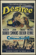 "Movie Posters:Drama, Desirée (20th Century Fox, 1954). One Sheet (27"" X 41""). Historical Romance. Directed by Henry Koster. Starring Marlon Brand..."