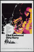 "Movie Posters:Action, Dirty Harry (Warner Brothers, 1971). One Sheet (27"" X 41""). Crime. Directed by Don Siegel. Starring Clint Eastwood, Harry Gu..."