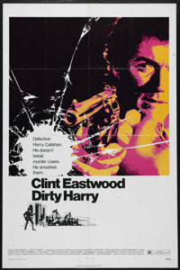 """Dirty Harry (Warner Brothers, 1971). One Sheet (27"""" X 41""""). Crime. Directed by Don Siegel. Starring Clint East..."""
