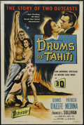 "Movie Posters:Adventure, Drums of Tahiti (Columbia, 1953). One Sheet (27"" X 41""). Adventure. Directed by William Castle. Dennis O'Keefe, Patricia Med..."