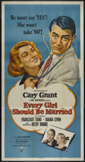 """Movie Posters:Comedy, Every Girl Should Be Married (RKO, 1948). Three Sheet (41"""" X 81""""). Romantic Comedy. Directed by Don Hartman. Starring Cary G..."""