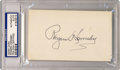 Autographs:Letters, Rogers Hornsby Signed Index Card PSA Authentic. Hornsby holds themodern record for highest batting average in a season. He...