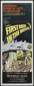"Movie Posters:Science Fiction, First Men in the Moon (Columbia, 1964). Insert (14"" X 36""). Science Fiction. Directed by Nathan Juran. Starring Edward Judd,..."